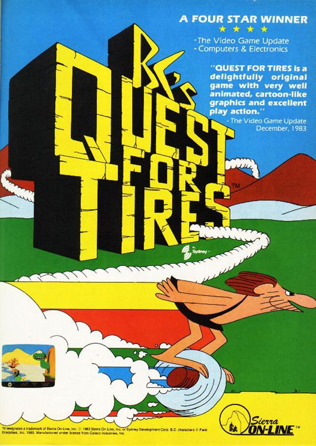 BC's Quest For Tires for the Colecovision Retro Gaming Ad