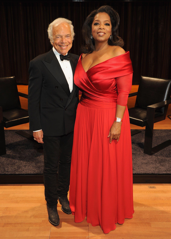 Oprah wedding dresses  Oprah Winfrey Plus Size Red Formal Gown Lincoln Center Presents