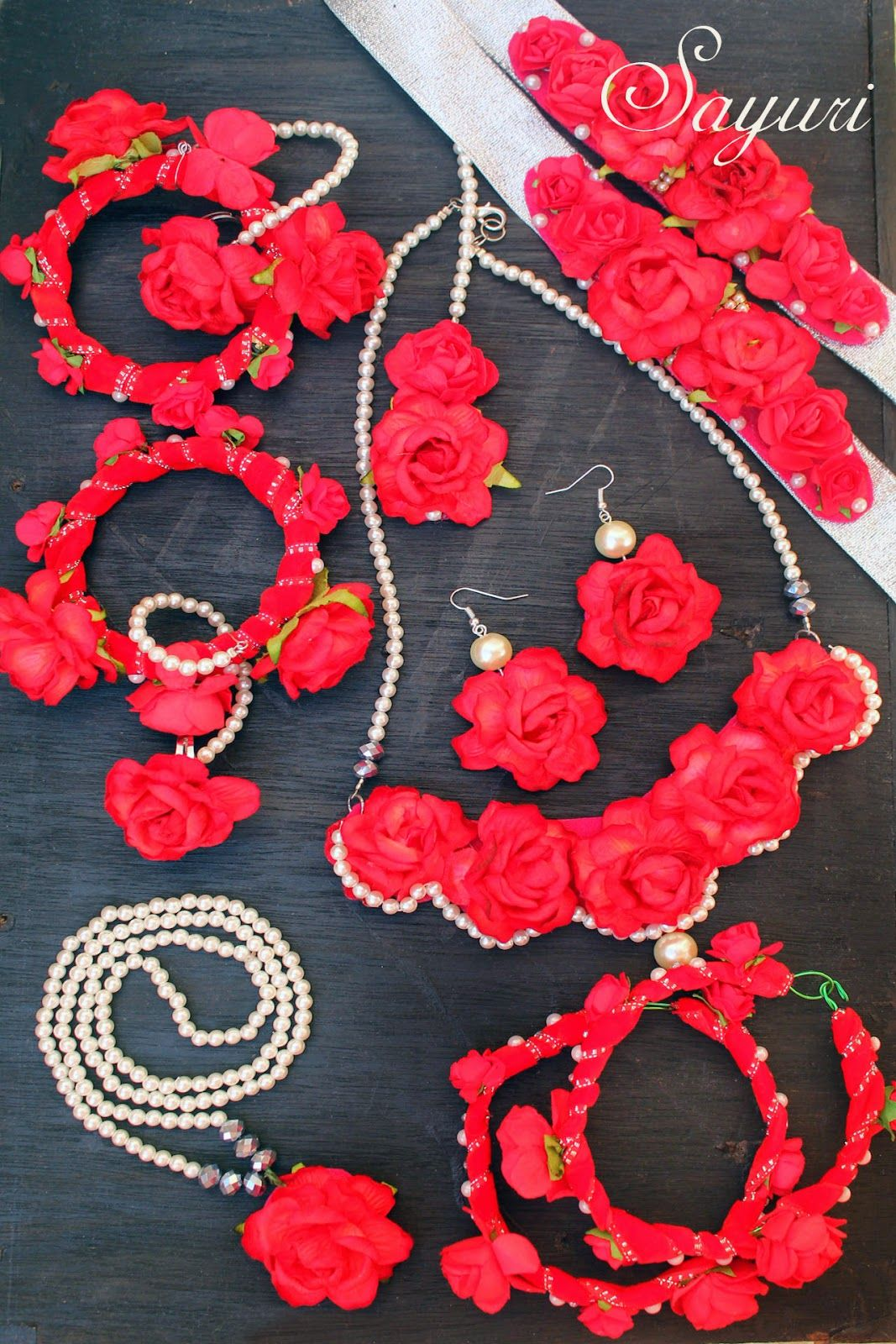 Craft Rose Flowers Pink Alloy Jewelry Craft