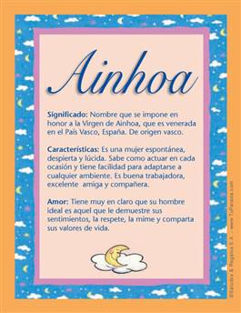 Nombre Ainhoa Significados De Los Nombres Nombres De Bebes Nombres De Niñas