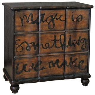 Hand Painted Distressed Two-Tone Brown Accent Chest - Free Shipping Today - Overstock.com - 15442217 - Mobile
