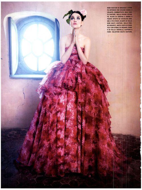Astrid Berges-Frisbey photographed by Ellen Von Unwerth in Vogue Italia March 2012