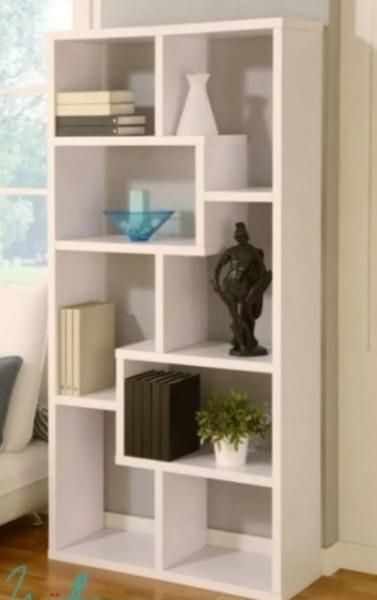 Modular mueble biblioteca rack cubos divisor ambientes | Curved TV ...
