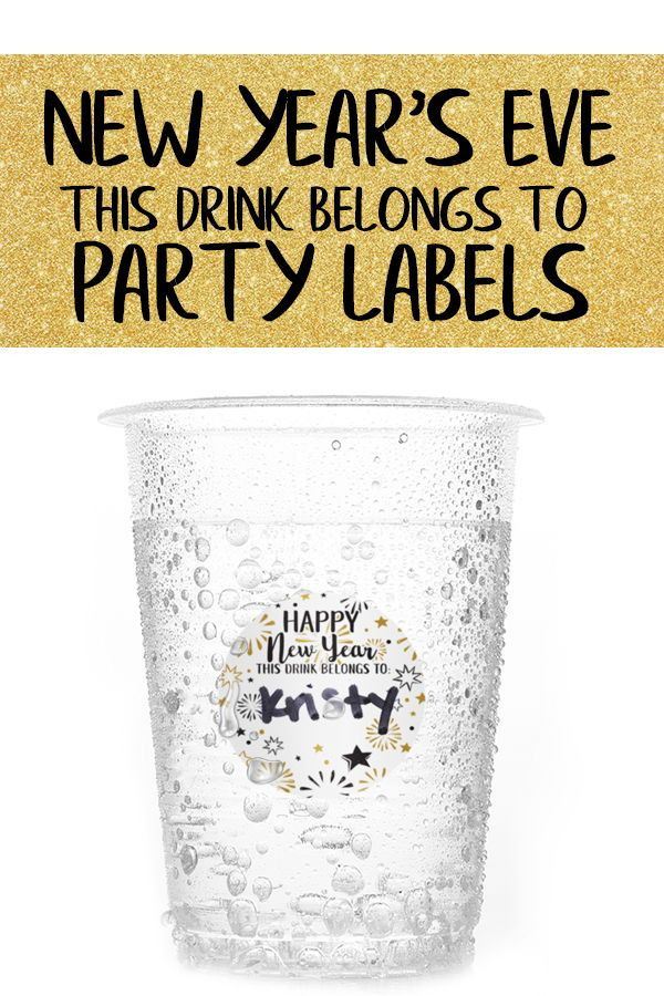 New Year's Eve Party Drink Name Tag Stickers These drink ...