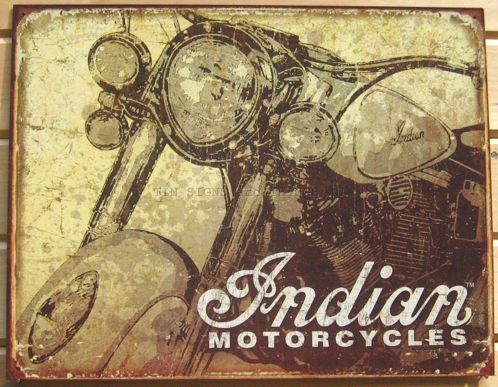 Garage Decor Signs Captivating Indian Motorcycle Tin Sign Vtg Antique Style Metal Poster Wall 2018