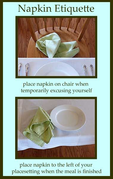 Great Table Manners Tips For Napkin Etiquette