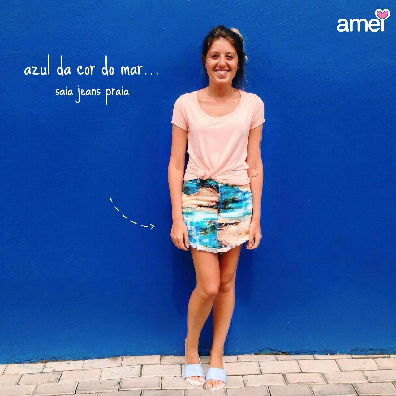 Azul infinito 🌊🌴 #lojaamei #azulbic #parede #praia #mar #chinelo #ferias