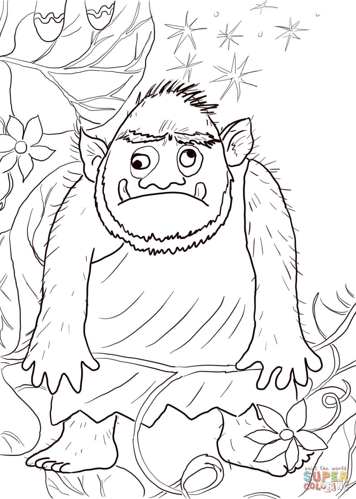 Colouring Sheet Jack And The Beanstalk