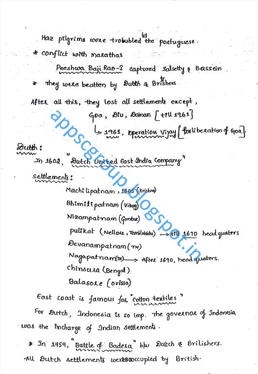 Modern India History Short Notes Modern History Of India Pdf