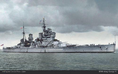 Hms King George V Battleship Warship Royal Navy Ships