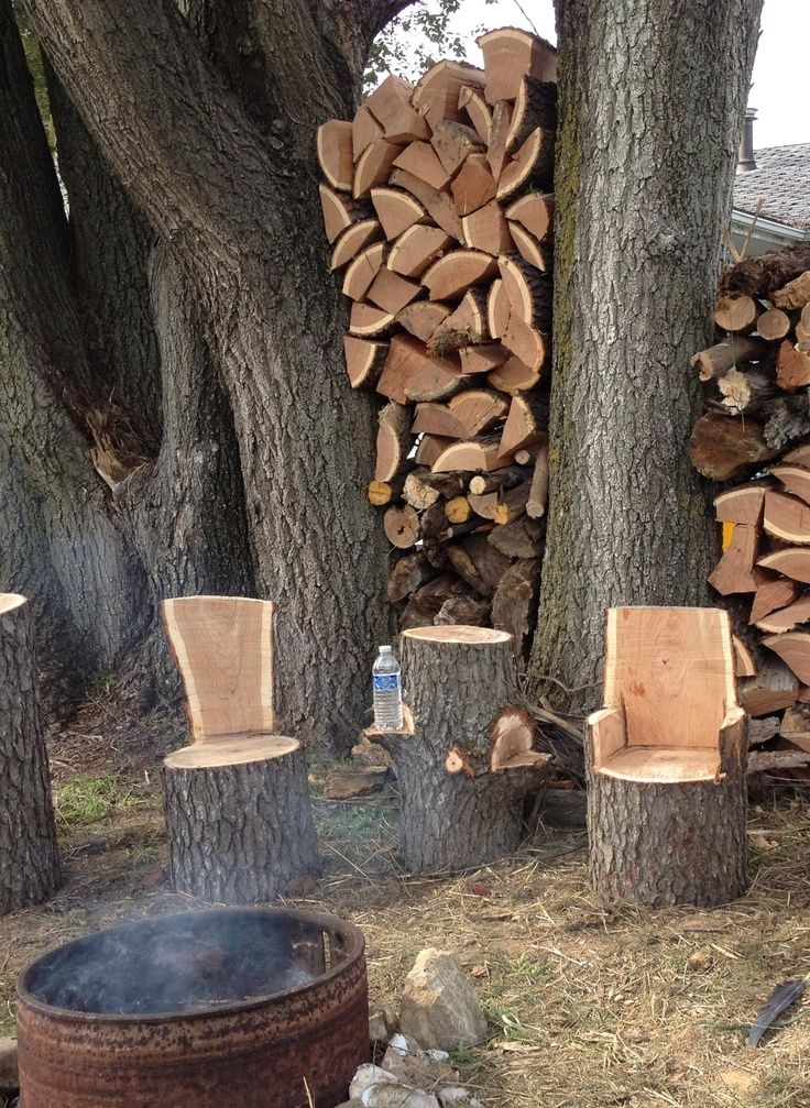 Stump Chairs And Tables Tree Stump Kids Chairs And Table Complete With Drink Shelves Tree Stump Table Diy Garden Table Tree Stump