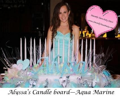 Sweet 16 Bar Bat Mitzvah Quinceanera Candlelighting Candle Boards
