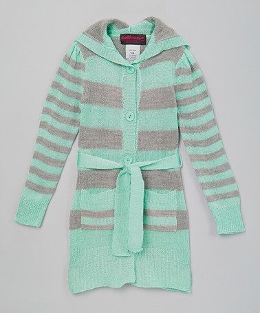 b5bfff356 Another great find on  zulily! Green Stripe Sash Cardigan - Infant ...