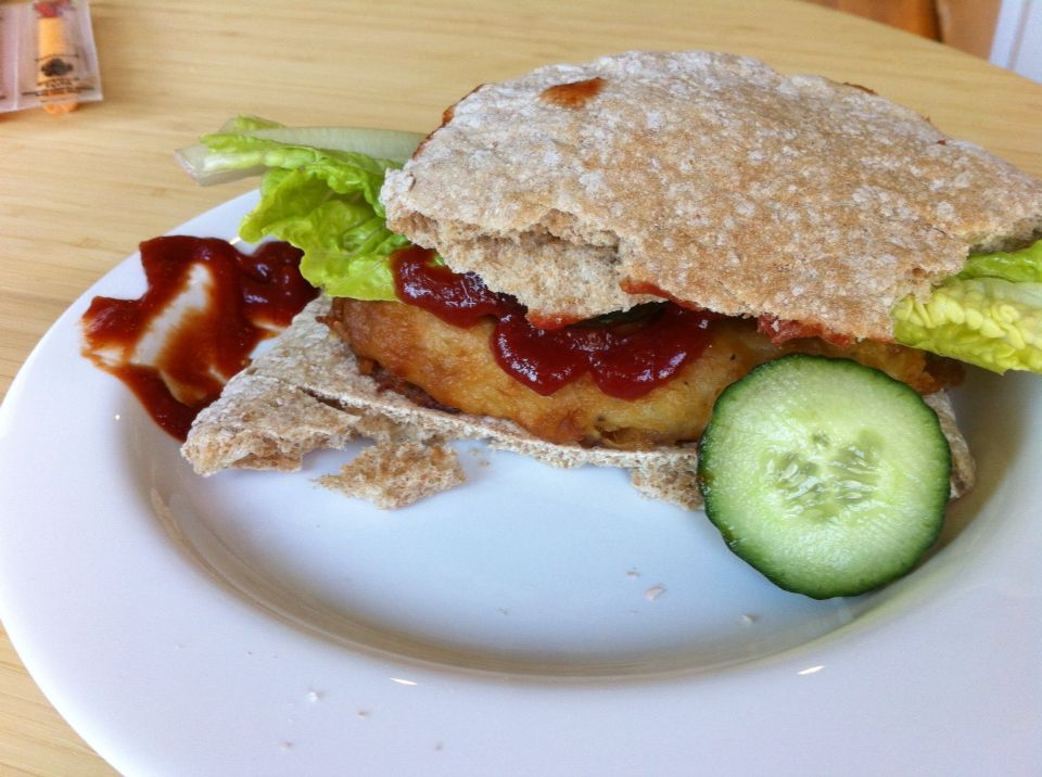 Leo's 'homemade creation of fish sandwich' #kidscooking