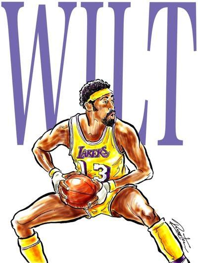Los Angeles Lakers Wilt Chamberlain Illustrated  f33ae143e4ef9
