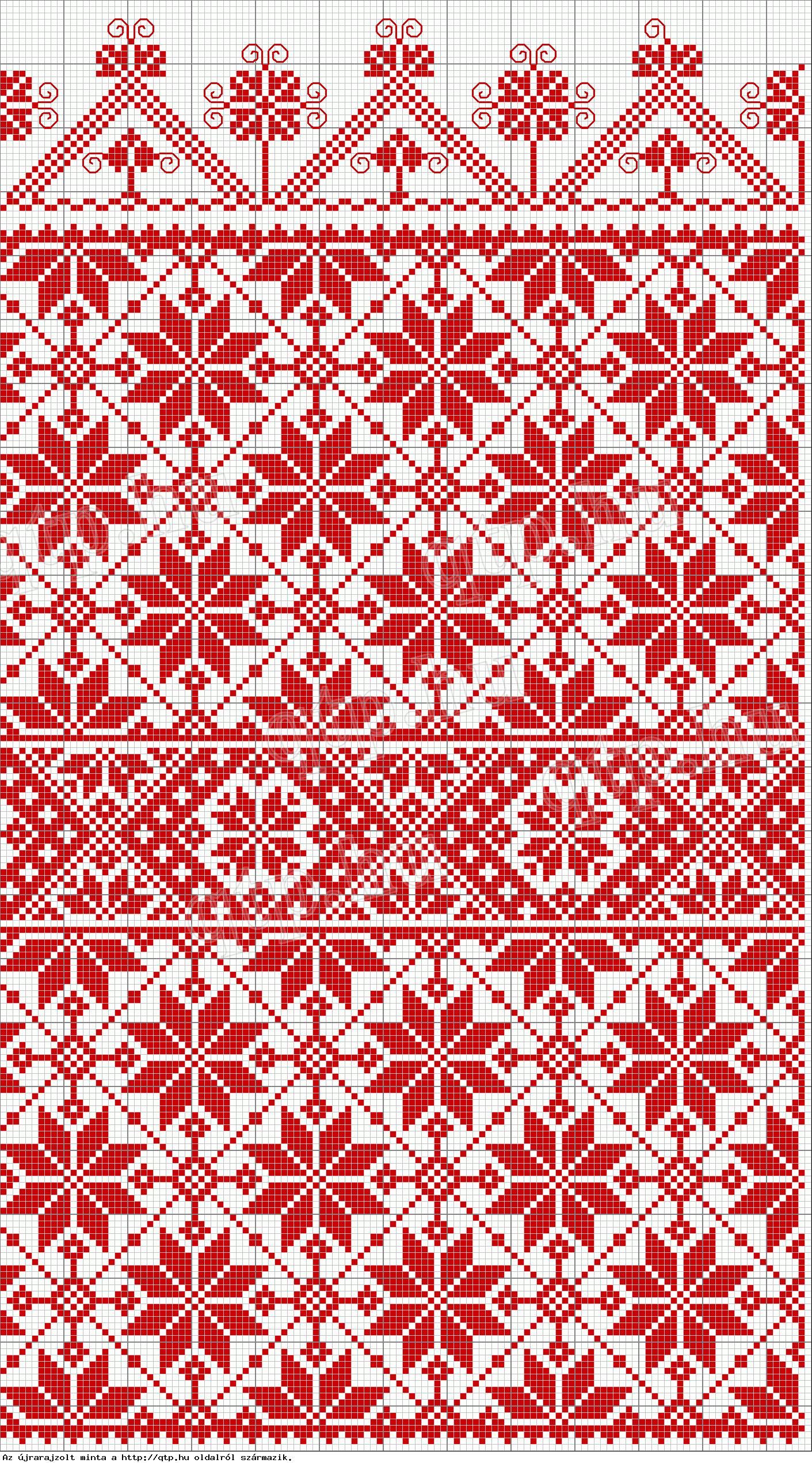 Rábaközi hímzések blanket idea free knit chart fair isle | Knitting ...