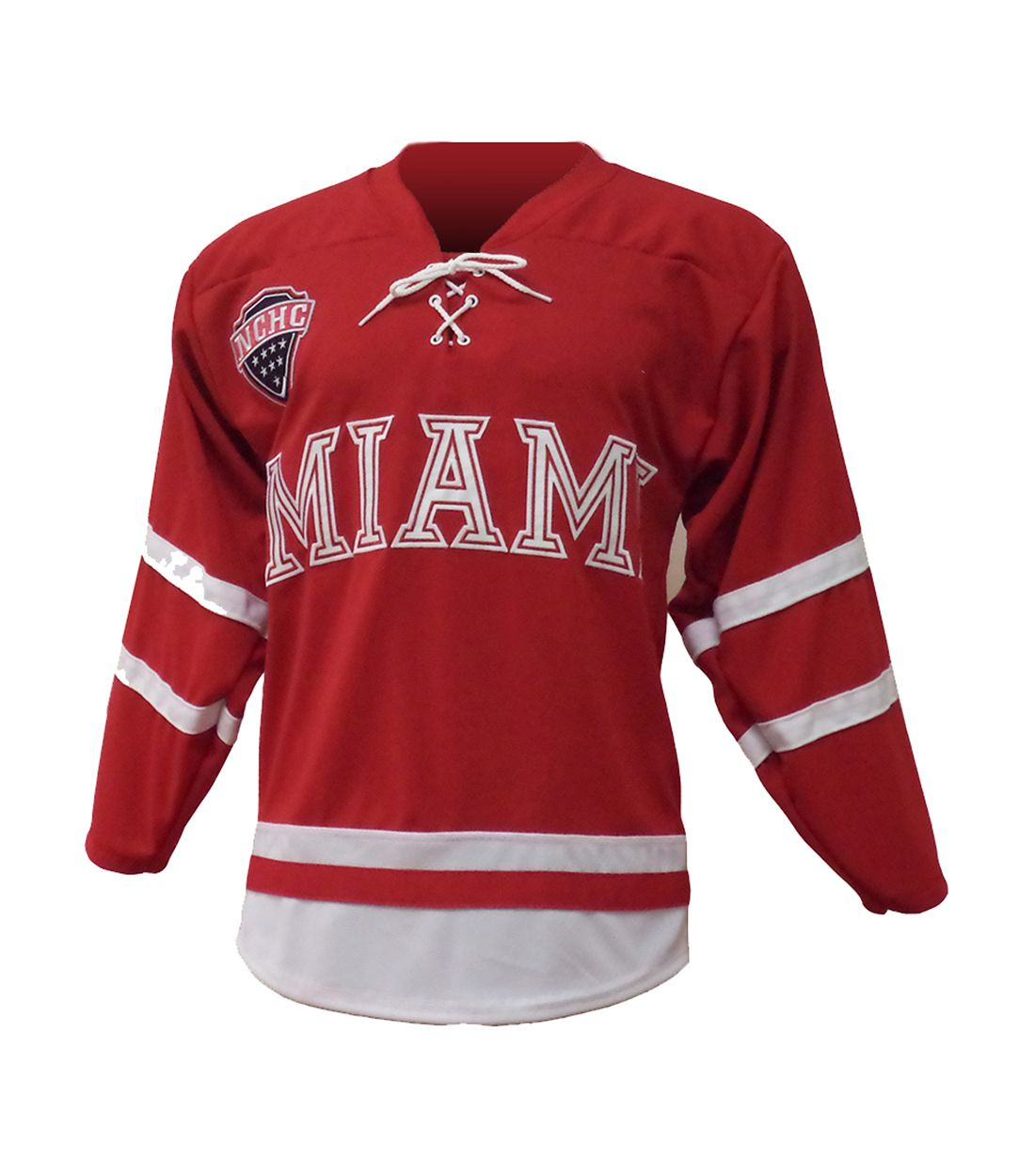 Red Miami University Hockey Jersey  df1cb88bfa5