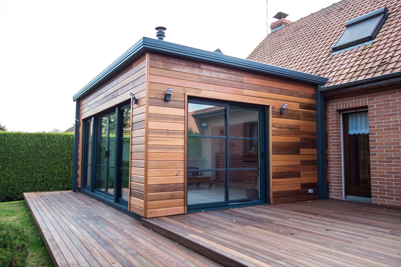 Extension d 39 habitation naturel et cologique en r gion for Maison suedoise en bois