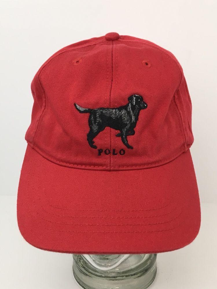 af067b9364a57 90s Polo Sport Ralph Lauren Dog Embroidered Logo Strapback Hat Vintage Vtg  Rare  PoloSportRalphLauren  BaseballCap