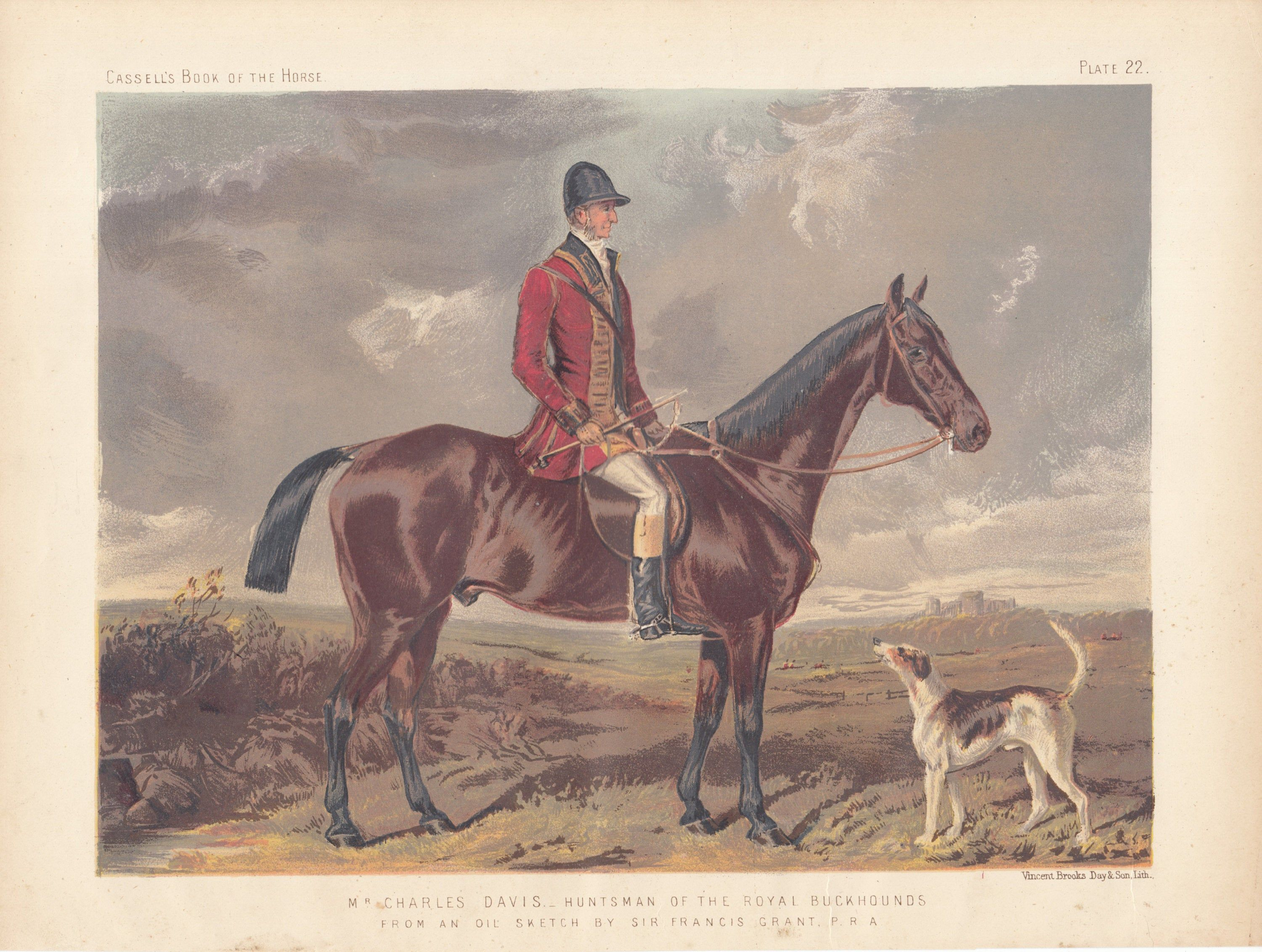 Dogs Fox Hounds Antique vintage decor Horses Hunting Francis Grant ART