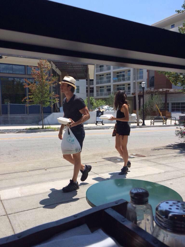 Ian and Nikki out and about in ATL 2/8/15