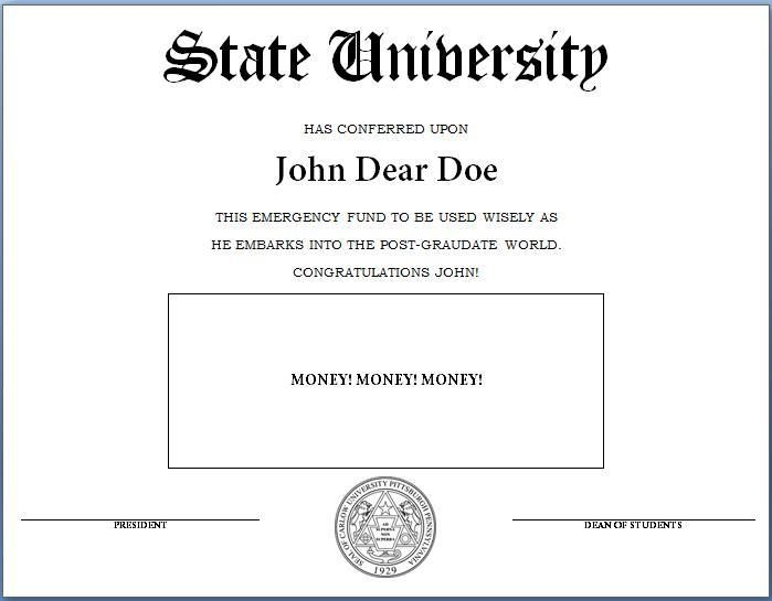 How To Make A Fake Diploma Template And Tutorial Graduation