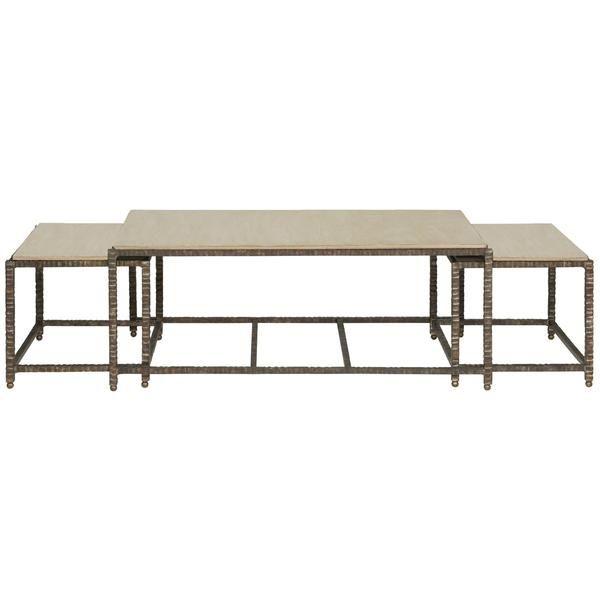 Vanguard Furniture, Vanguard, Bunching Cocktail Table, Cliffside Gray,  Metal, Oak Solids