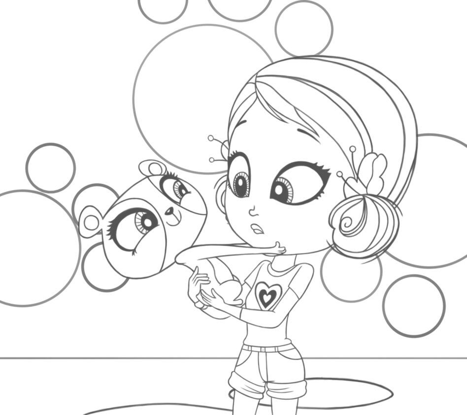 Youngmee And Penny Ling Colouring Page Desenhos