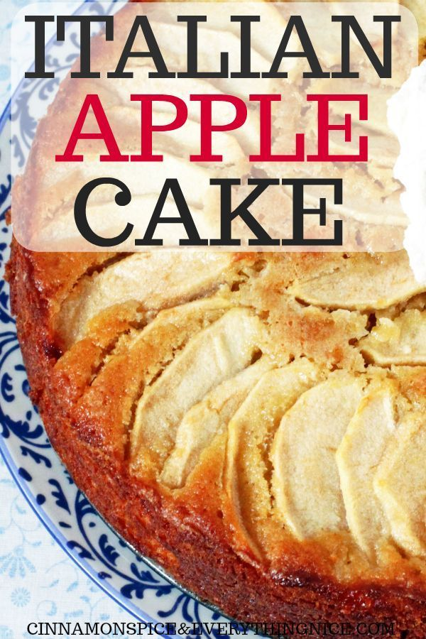 Italian Apple Cake is part of Apple cake - Apples play a starring role in this lemon and vanilla infused cake! Not only are they in the batter but on top too making for a pretty presentation and filling every bite with their tart, sweet flavor