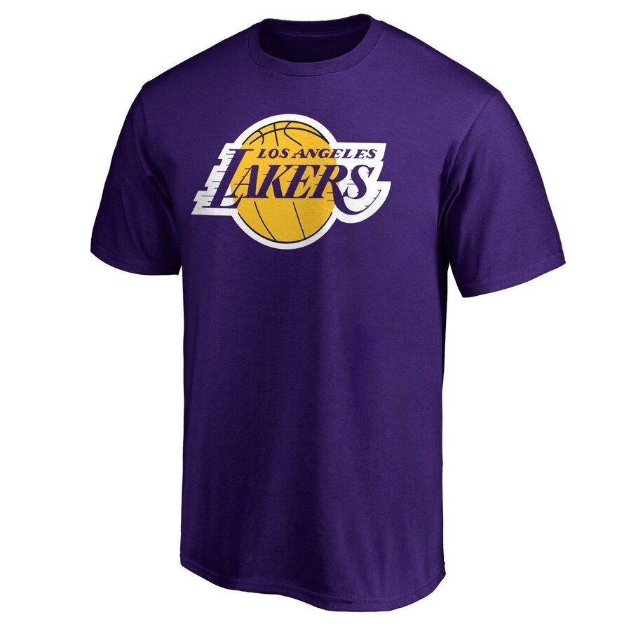 Men S Los Angeles Lakers Fanatics Branded Purple Primary Team Logo T Shirt In 2020 Los Angeles Lakers Logo Lakers Logo Los Angeles Lakers