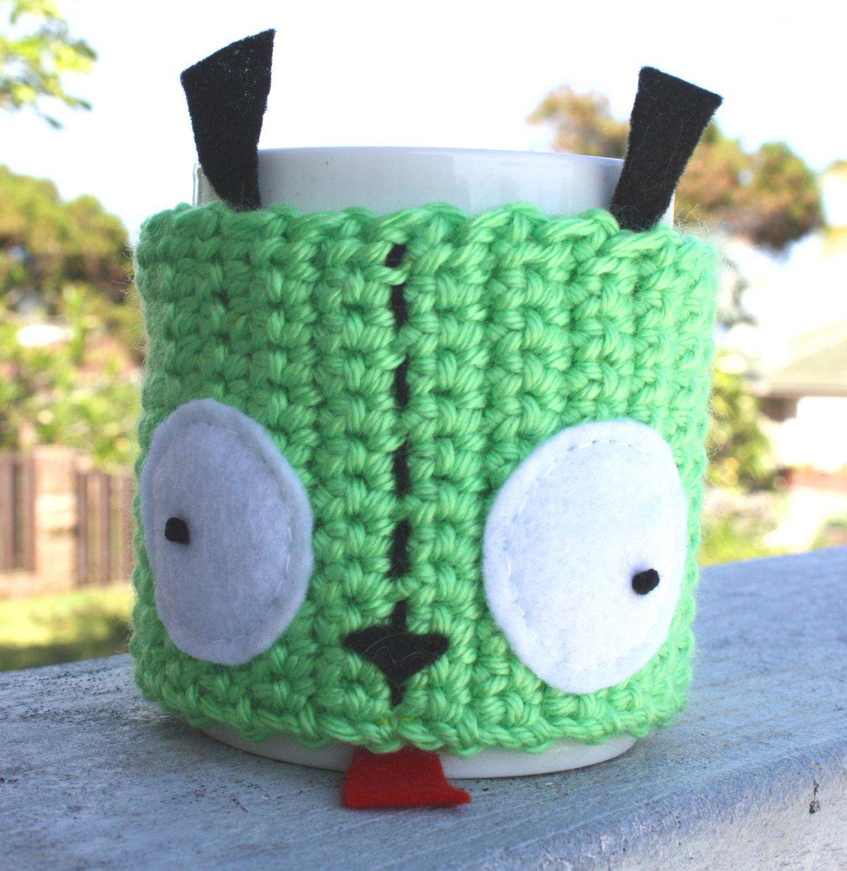 Gir ish Coffee Mug Tea Cup Cozy Invader Zim Inspired