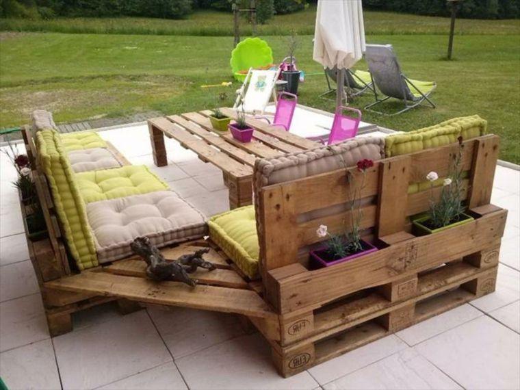 Divano Pallet Esterno : Outdoor divani in pallet per esterno tavolino laterale centrale
