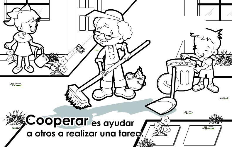 VALORES PARA NIÑOS EN BLANCO Y NEGRO.   CLASE   Pinterest   Educar ...