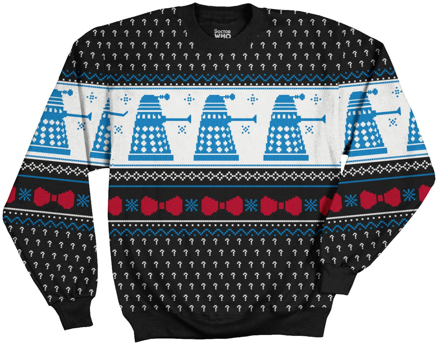 Doctor Who Dalek Faux Christmas Sweater | Dalek and Geeks