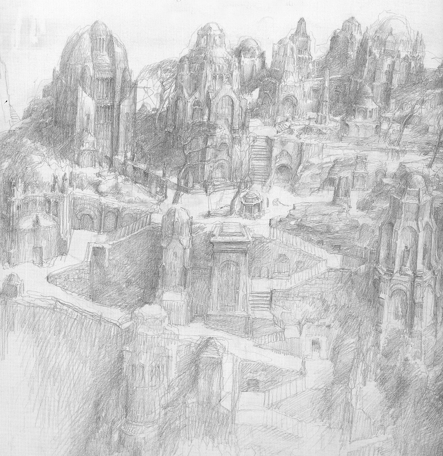 alan_lee_the lord of the rings_sketchbook_16_the stewards tomb01.jpg (1555×1600)