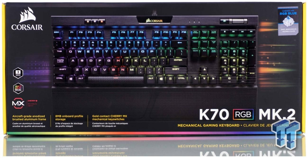 Corsair K70 RGB MK 2 Mechanical Gaming Keyboard Review