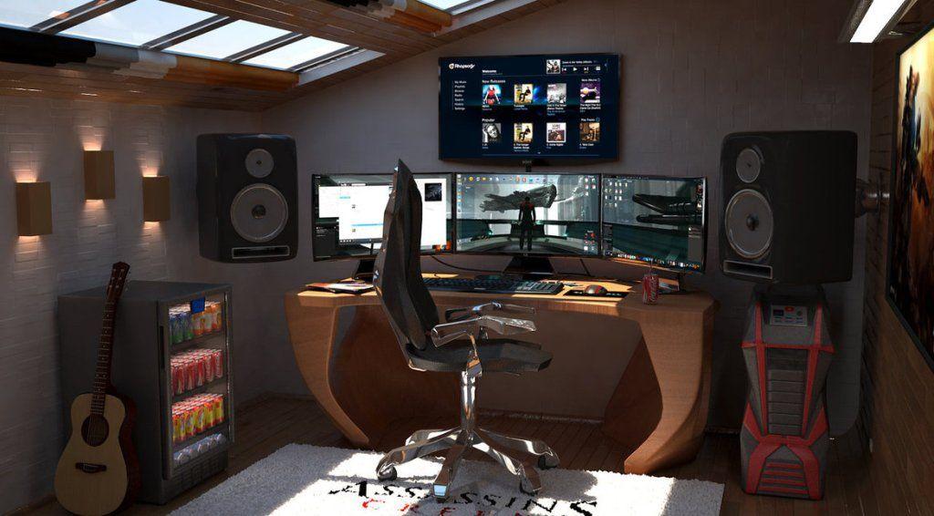 Game Room Layout Ideas Quarto De Jogador Salas De Videogame Decoração Da Sala De Jogo