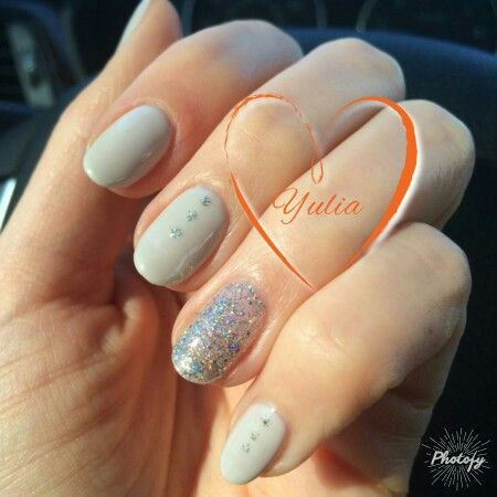 Shellac Nails In Virginia Beach Nude With Accent Nail Nail Design