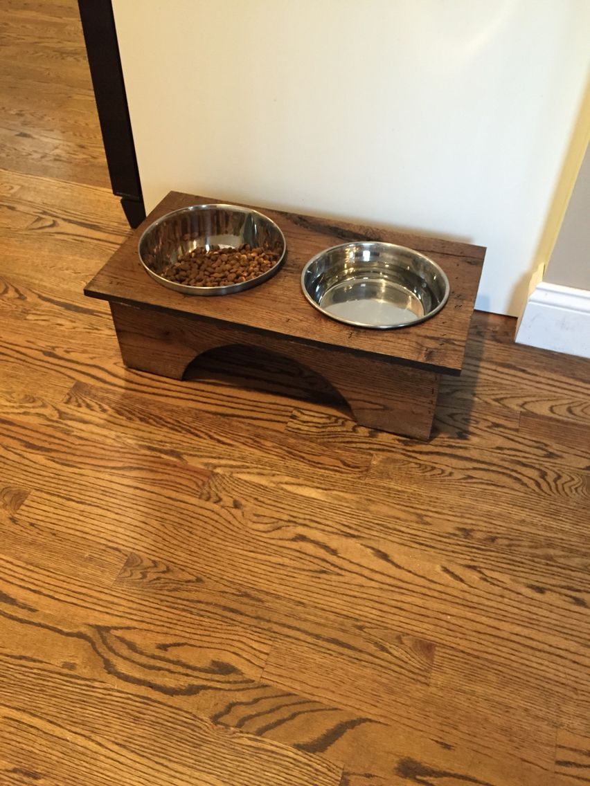 Elevated Dog Dish Stand I Made Oak