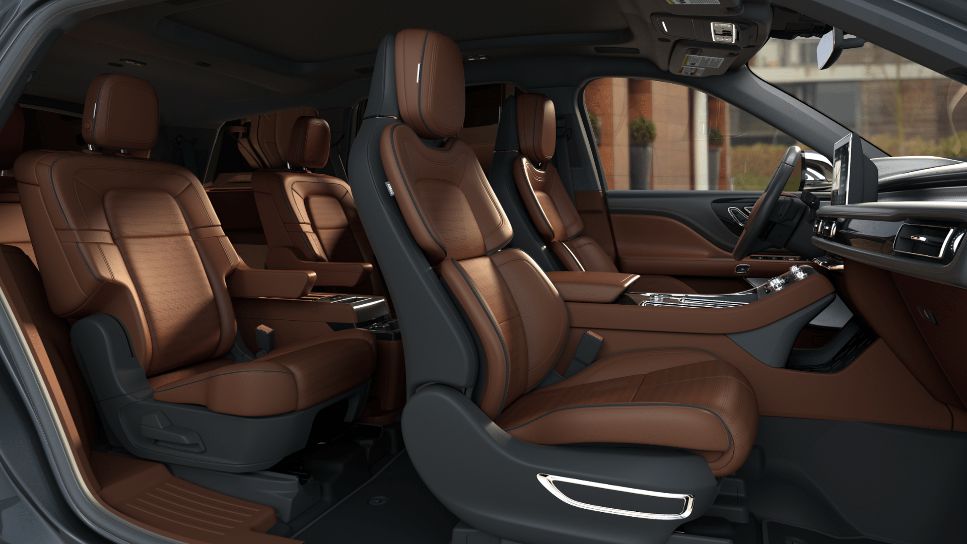 Interior View Of 2020 Lincoln Aviator With Flight Theme Lincoln Aviator New Lincoln Hybrid Car