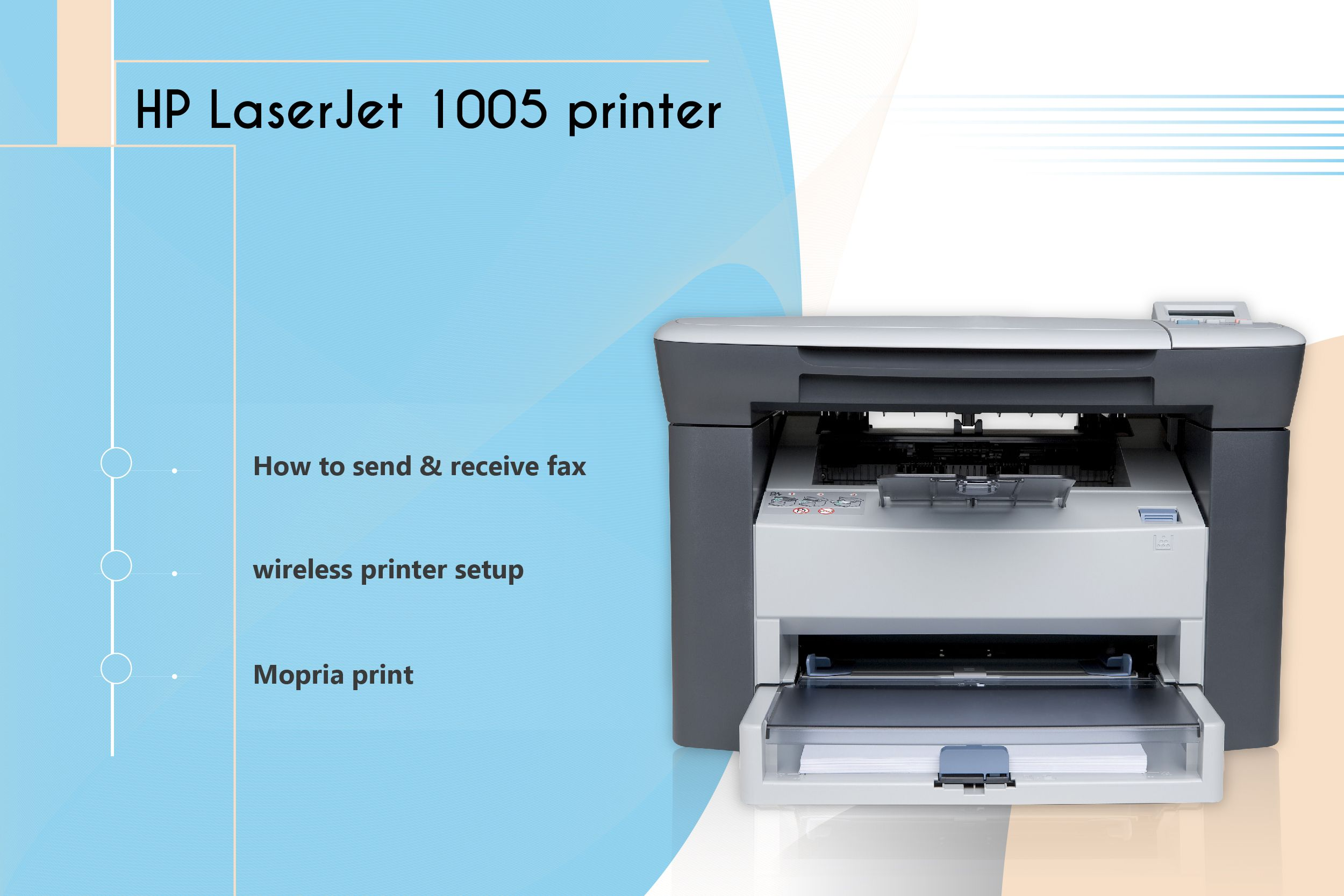 Assistance for hp laserjet 1005 printer wireless setup