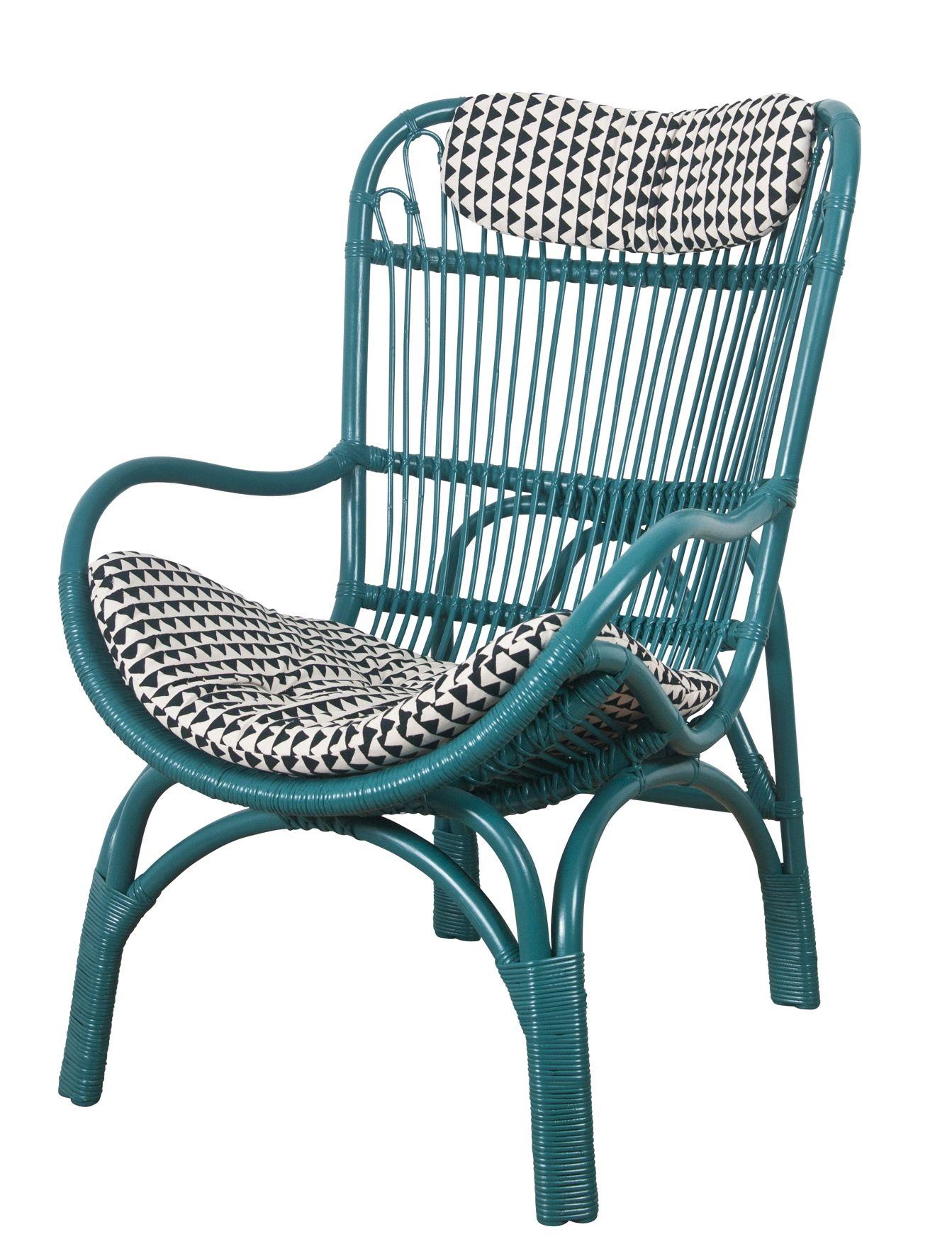 LeMondeSauvage fauteuil Hawa¯ rotin peint et verni Le Monde