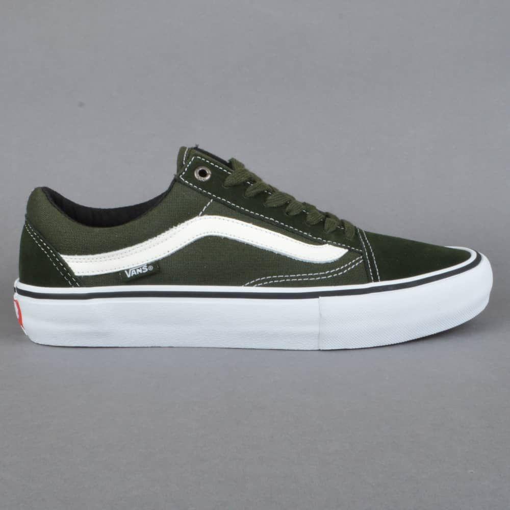 vans old skool pro green