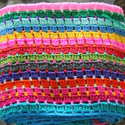 Crochet For Children: Block Stitch Afghan: the way I do it ...