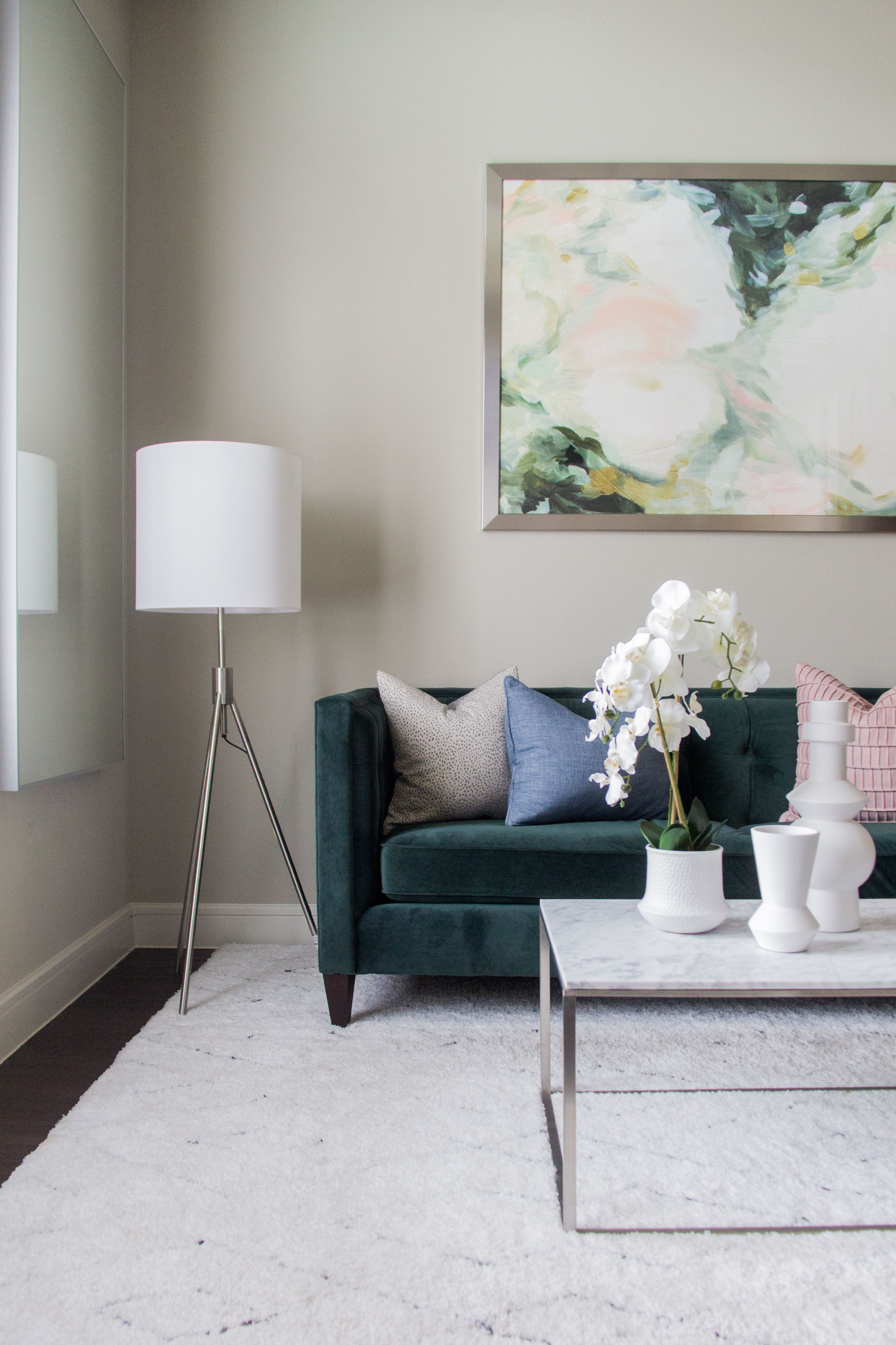 Living room design from the Grand Park project in Frisco ...