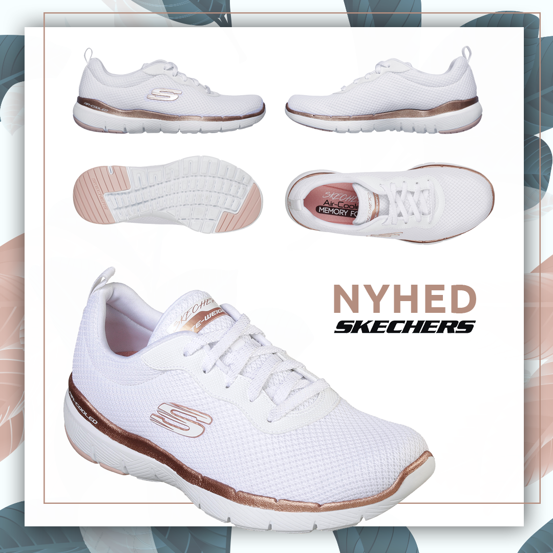 77ff182c Skechers Flex Appeal 3.0 First Insight - White Rose Gold Meget fleksibel  træningssko til damer fra
