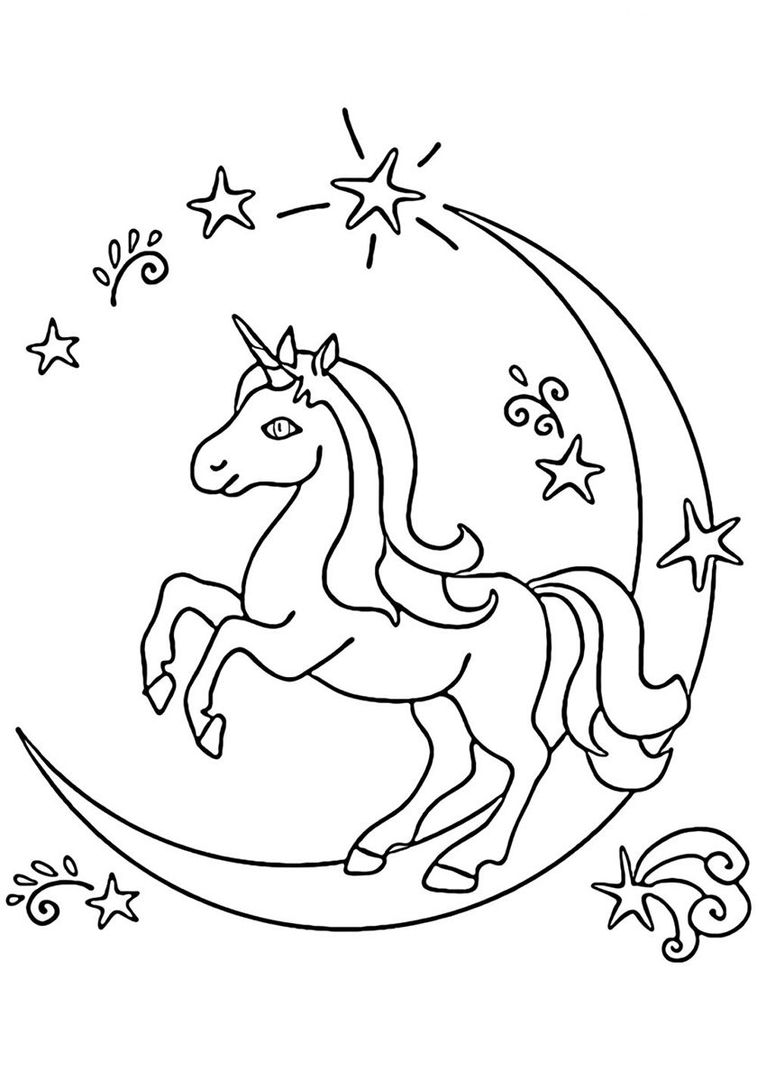 - Moon Path Coloring Pages, Unicorn Coloring Pages, Unicorn Printables