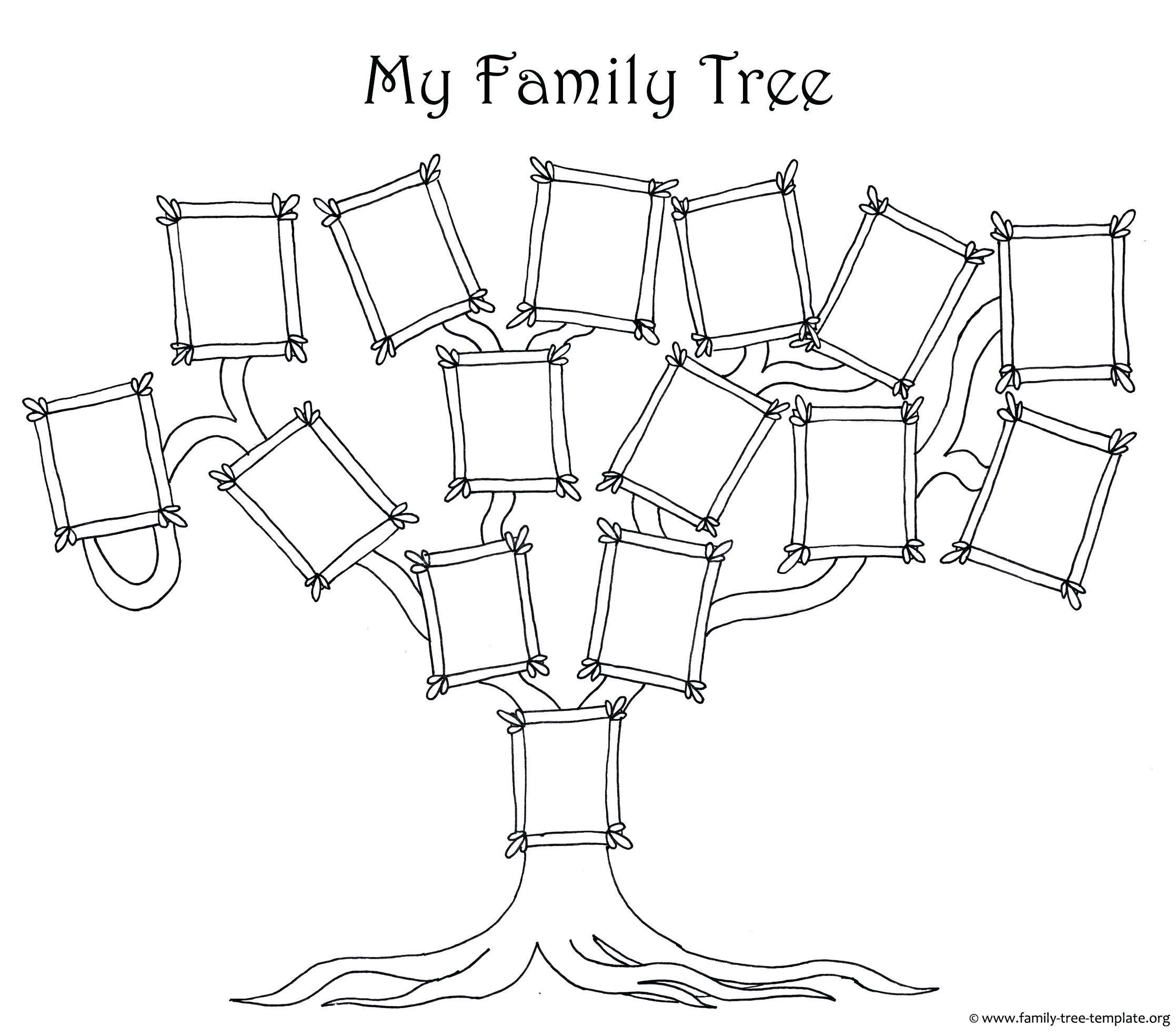 Unique Family Tree Word Template Xls Xlsformat