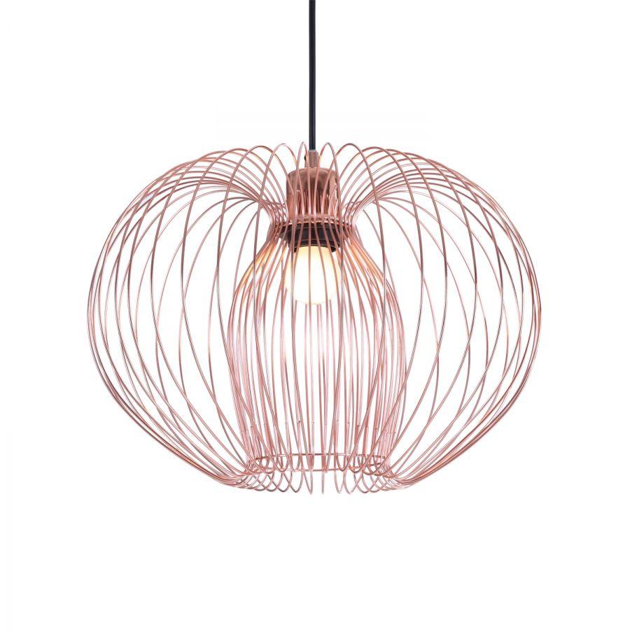 Schlafzimmer Hänge Lampe: Pendelleuchte Ainoa II - Metall - 1-flammig