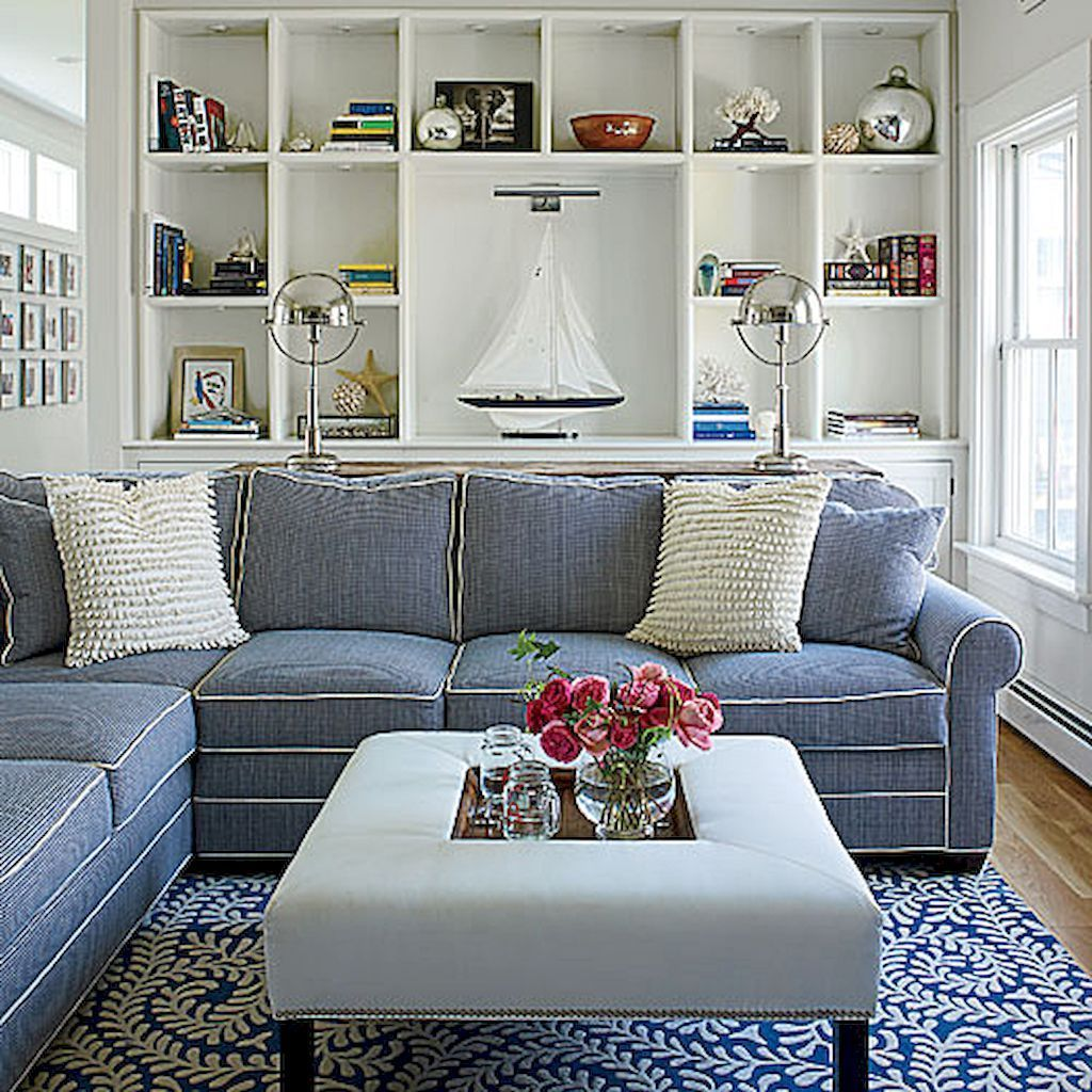 15 Perfect And Cozy Small Living Room Design: Cozy Coastal Living Room Decorating Ideas (63)